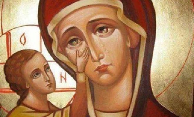 Ιερές Ακολουθίες στη Γιάτρισσα Κοκκινόραχης για την Παναγία τη Δακρυρροούσα